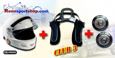 HANS 3 Komplettangebot Full Face Beltenick® Stand 21 - Kombi Angebot