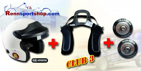 HANS 3 Komplettangebot Jet Helm Beltenick® Stand 21 - Kombi Angebot