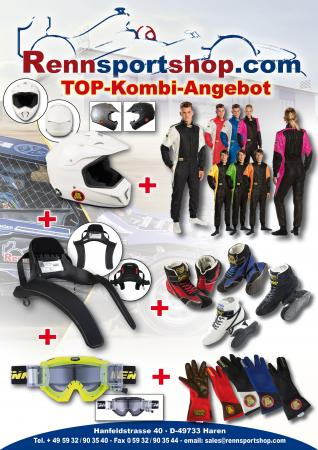 Cross Jubiläumsangebot  Beltenick® Racewear komplett (mit HANS & Helm)