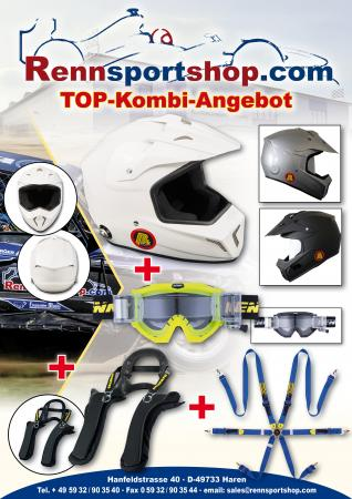 FIA Offroad Komplettangebot  Beltenick® Kombi Angebot Stand 21 FHR System Club mit Gurt