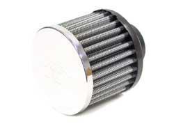 K&N Entlüftungsfilter 76mm/32mm  Gummiflansch