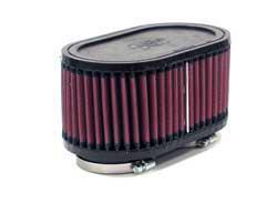 K&N Universalluftfilter, Flansch 2 x 52mm  Oval Doppelflansch, 95mm x 159mm