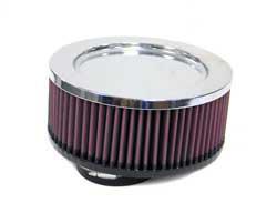 K&N Universalluftfilter, 76mm Flansch  Rund Zylindrisch, 178x178 76lg