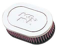 K&N Universalluftfilter, 70mm Flansch  Oval Gerade, 178x114 51lg
