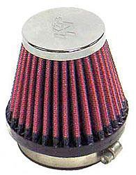 K&N Universalluftfilter, 55mm Flansch  Konische Rundform, 76x51 70lg