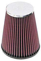 K&N Universalluftfilter, 62mm Flansch Konische Rundform, 132x89 152lg