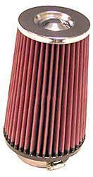 K&N Universalluftfilter, 76mm Flansch Konische Rundform, 127x102 200lg