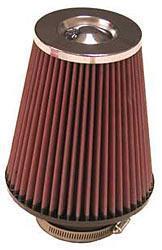 K&N Universalluftfilter, 76mm Flansch Konische Rundform, 127x102 171lg