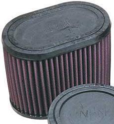 K&N Universalluftfilter, 70mm Flansch  Oval Gerade, 159x102 127lg