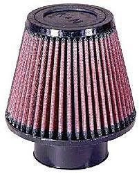 K&N Universalluftfilter, 76mm Flansch  Konische Rundform, 152x102 127lg