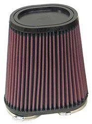 K&N Universalluftfilter, 2 x 60mm Flansch  Oval Doppelflansch, 95x159 171lg
