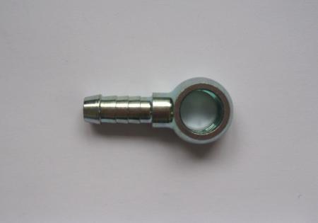 Stahl-Ringstück 8mm Schlauch  Bohrung 12mm Durchmesser
