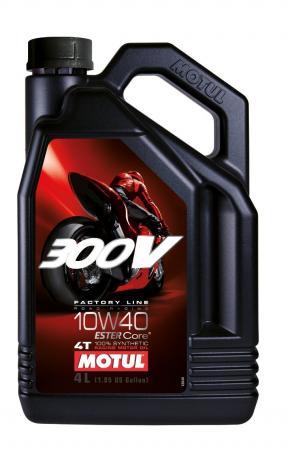 Motorenöl Motul 300V Factoryline 10W40 Vollsynsthetisch 4 ltr.