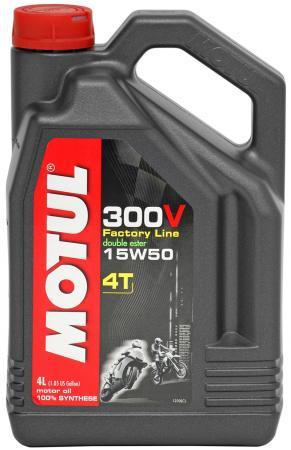 Motorenöl Motul 300V Factoryline 15W50 Vollsynsthetisch 4 ltr.