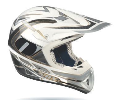 Cross-Helm NOX Defender  weiss-carbon Gr.L (59/60)