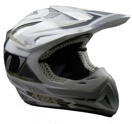 Cross-Helm NOX Defender  weiss-carbon Gr.XL (61/62)