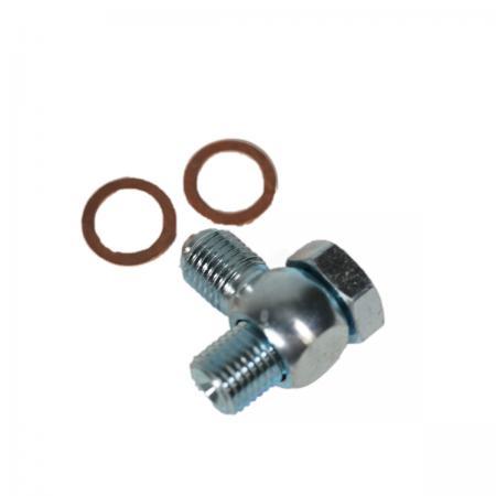 Banjo und Hohlschraube 7/16 UNF  für 90° Anschluss von Füllschläuchen Bremszylinderbehältern