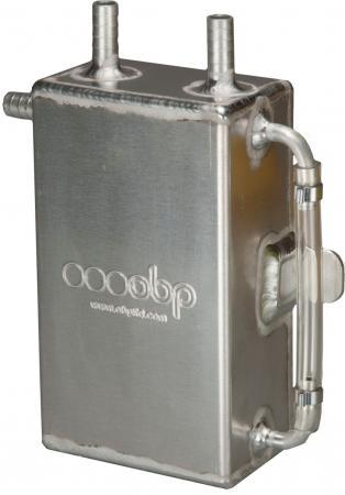 Öl Catchtank 1 liter quadratisch  3 Anschlüsse Aluminium OBP