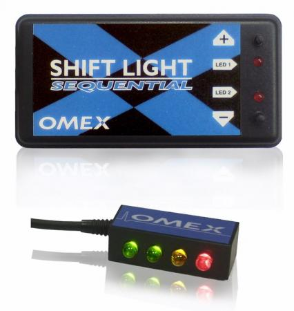 Omex Schaltlampe Sequential Shift Light  4 LED