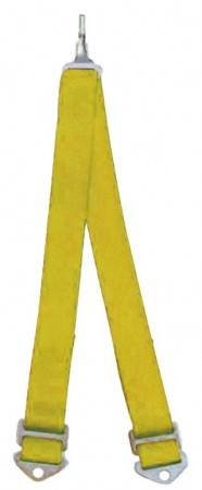 Beltenick® 6-Punkt Schrittgurt Gurt NASCAR gelb