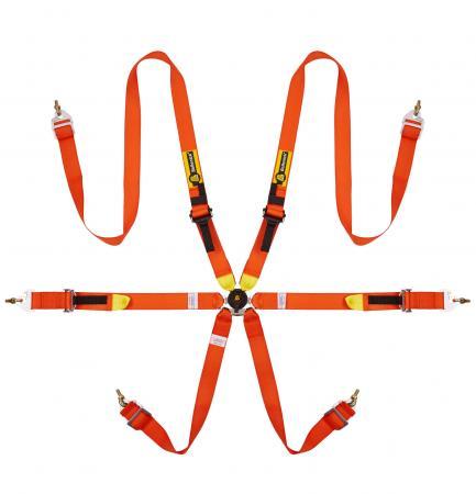 Beltenick® 6-Punkt Gurt Tourenwagen (HANS)  Farbe: orange