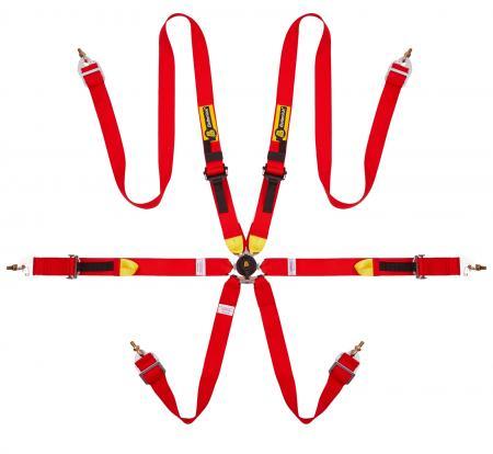 Beltenick® 6-Punkt Gurt Tourenwagen (HANS)  Farbe: rot
