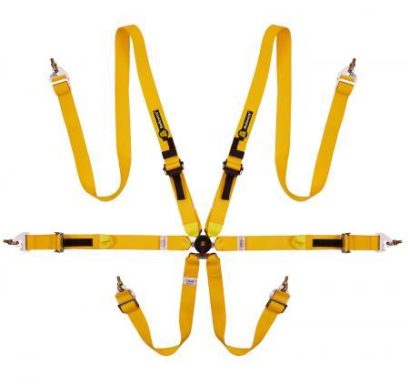 Beltenick® 6-Punkt Gurt Tourenwagen (HANS)  Farbe: gelb