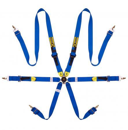 Beltenick® 6-Punkt Gurt Tourenwagen (HANS)  Farbe: blau