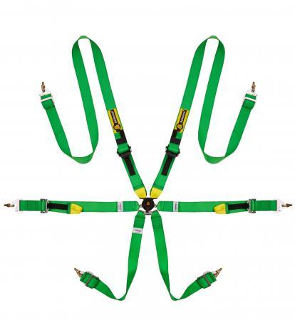 Beltenick® 6-Punkt Gurt Tourenwagen (HANS)  Farbe: grün
