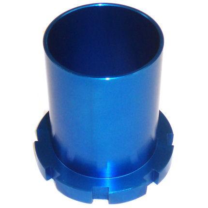 Federteller Gewinde 76mm führung.  passend für 57mm / 60mm Rennsportfedern