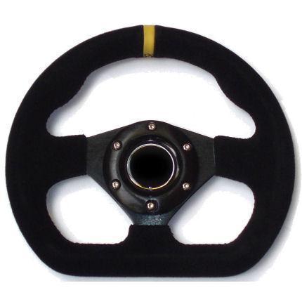 RMD Lenkrad Formula 285mm Wildleder schwarz Nabe 6x70mm (SVI 5285)