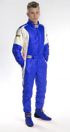 Rennoverall Beltenick® Stratos -  Overallgröße: Gr. 5XL (68+), Overallfarbe: blau-silber