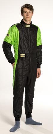 Rennoverall Beltenick® Stratos -  Overallgrösse: Gr. L (50-52), Overallfarbe: schwarz-grün
