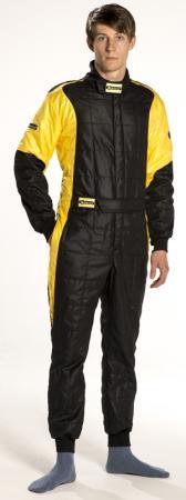 Rennoverall Beltenick® Stratos -  Overallgrösse: Gr. S (46-48), Overallfarbe: schwarz-gold