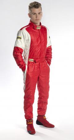 Rennoverall Beltenick® Stratos -  Overallgröße: Gr. XL (54-56), Overallfarbe: rot-silber