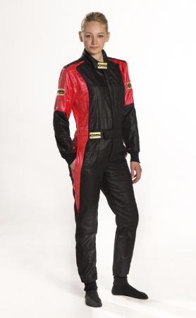 Rennoverall Beltenick® Stratos 3-lagig - FIA 8856-2000 - Overallgrösse: Gr. XLT (106-110), Overallfarbe: schwarz-rot