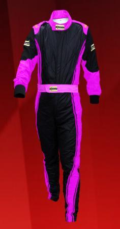 Rennoverall Beltenick® Driver II Gr. 3XLT, schwarz-pink