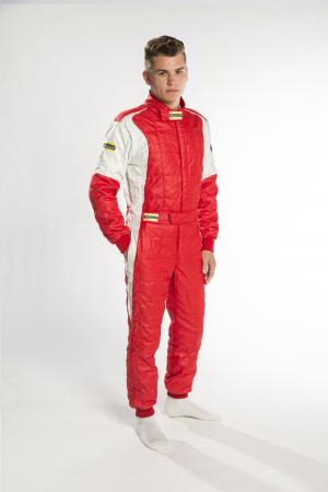 Rennoverall Beltenick® Stratos II 3-lagig FIA 8856-2018   Gr. 3XL (62-64), rot-silber