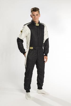Rennoverall Beltenick® Stratos II 3-lagig FIA 8856-2018   Gr. 3XL (62-64) schwarz-silber