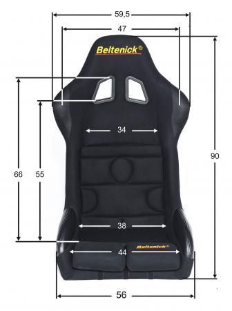 Sim Racing Sitz RST 7 Gaming Vollschalensitz  Größe L, schwarz, Stoff (Velvet)
