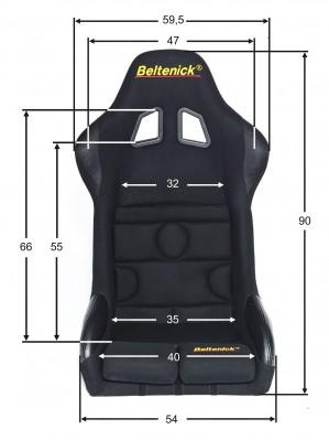 Beltenick® Rennsitz RST 700 Vollschalensitz  Größe M Stoff schwarz