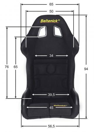 Sim Racing Sitz RST 8 Gaming Vollschalensitz  Größe L, schwarz, Stoff (Velvet)