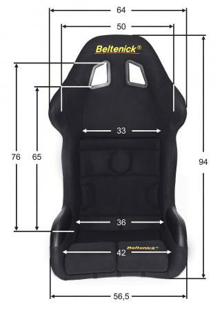 Sim Racing Sitz RST 8 Gaming Vollschalensitz  Größe M, schwarz, Stoff (Velvet)