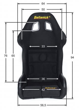 Beltenick® Rennsitz RST 800 Vollschalensitz  Größe M schwarz