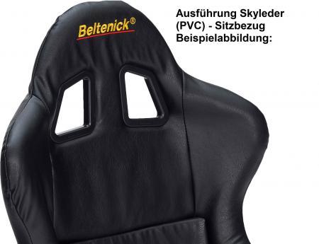 Beltenick® Rennsitz RST 800 Vollschalensitz  Größe M, schwarz, Skyleder (PVC)
