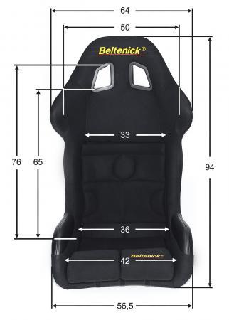 Beltenick® Rennsitz RST 800 Vollschalensitz  Größe M, schwarz, Stoff (Velvet)