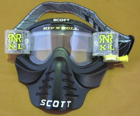 Scott 83x Vollcross Brille incl. RNR XL Roll Off und Vollmaske