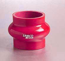 Samco Schlauch 76mm  mit Ausgleichswulst rot
