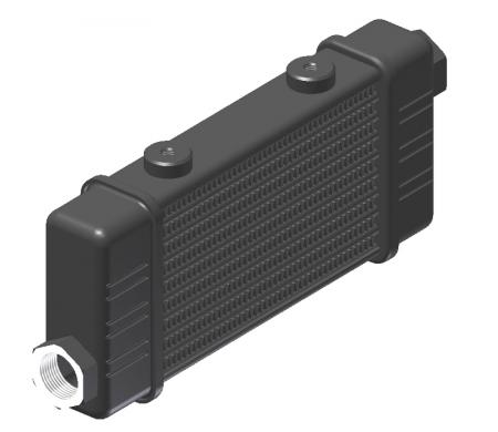 Ölkühler Setrab Slim-Line  SLM-Breite: Netzbreite 141mm, SLM-Reihen: 10-Reihen