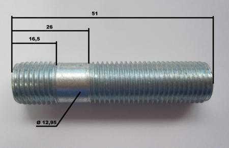 Spezial Radbolzen M14x1,5 50 lang
